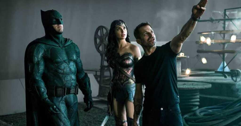 Zack Snyder sul set di Justice League con Ben Affleck e Gal Gadot