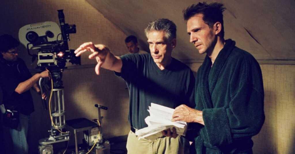 David Cronenberg sul set