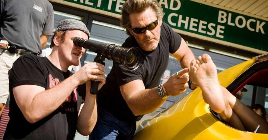 Quentin Tarantino sul set