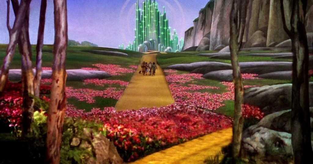 Il mago di Oz strada